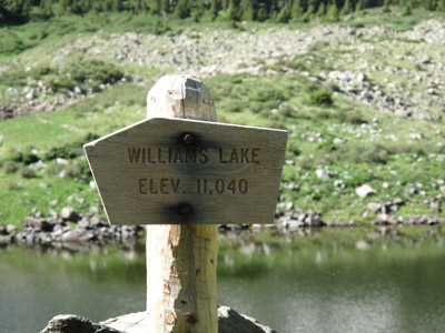 The Williams Lake sign
